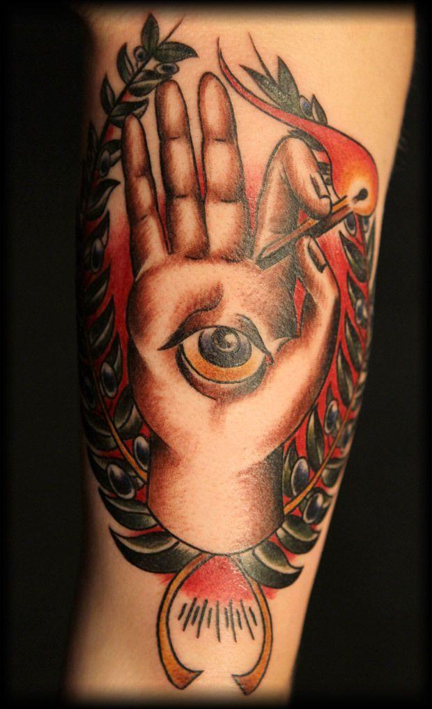 traditional american tattoo hamsa tattoo