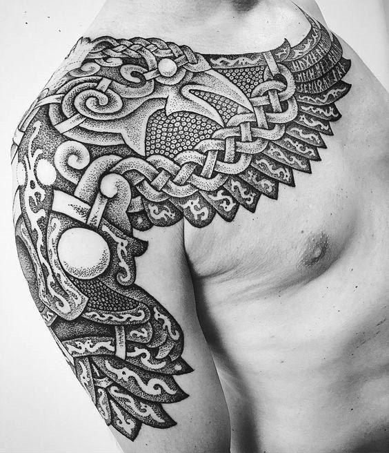 nordic tattoos eagle shoulder tattoo