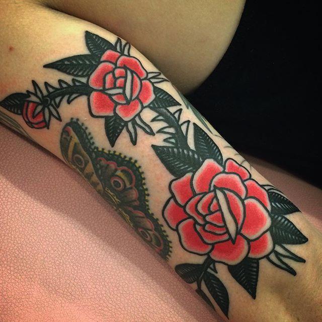 traditional american tattoo rose tattoo