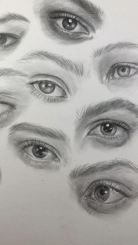 drawings of eyes