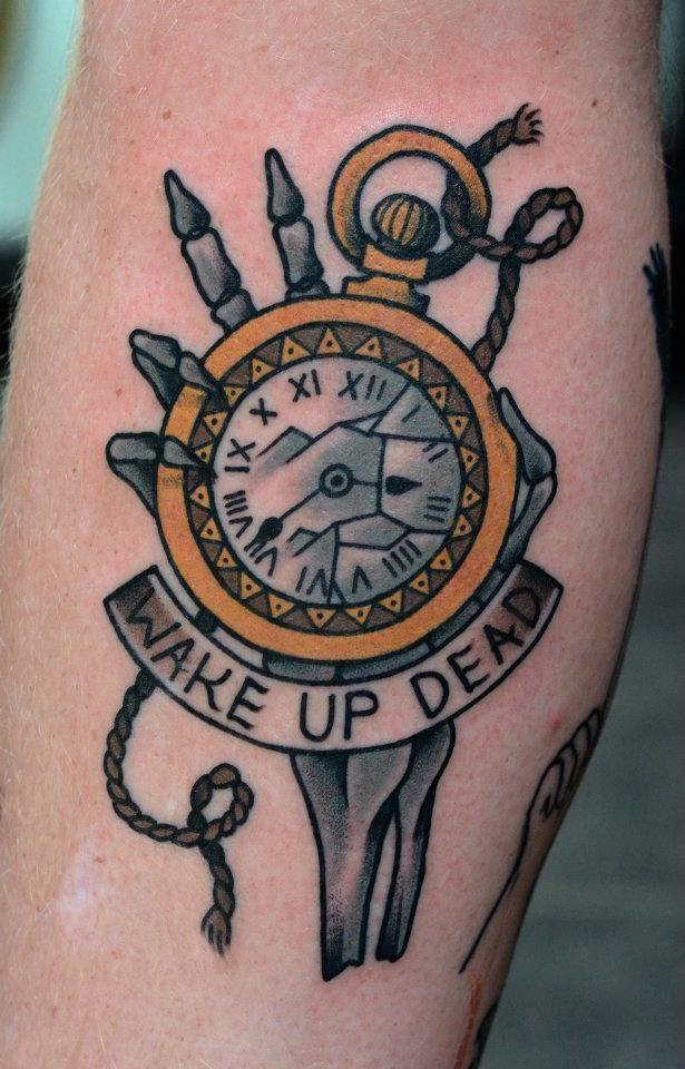 traditional american tattoo watch tattoo