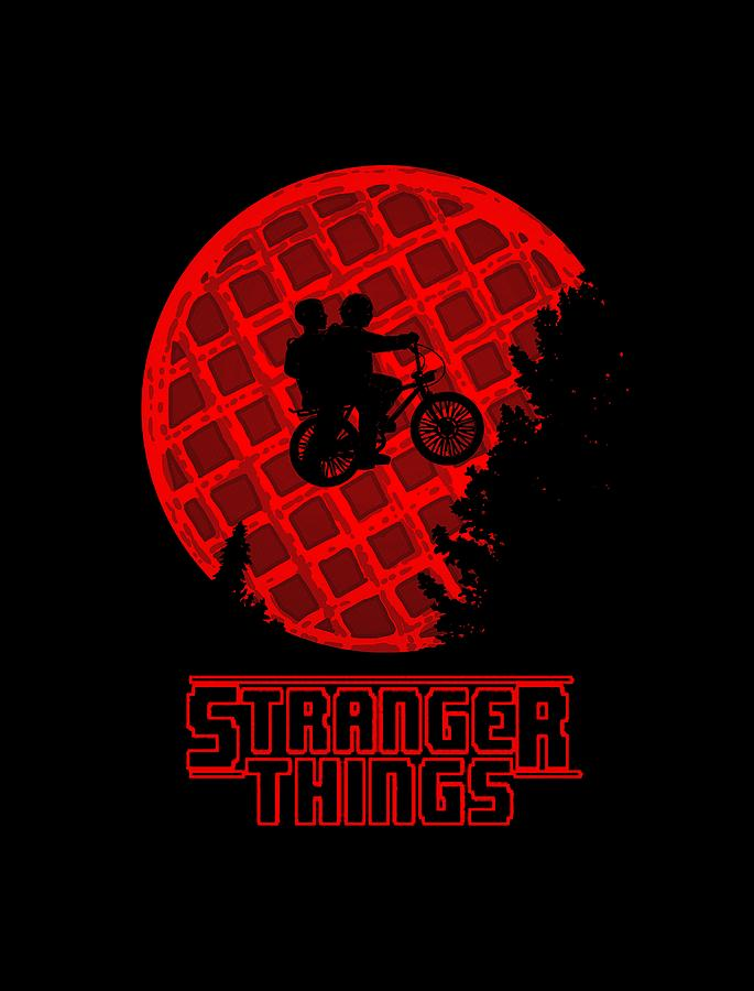 Stranger things waffle illustration and logo variation