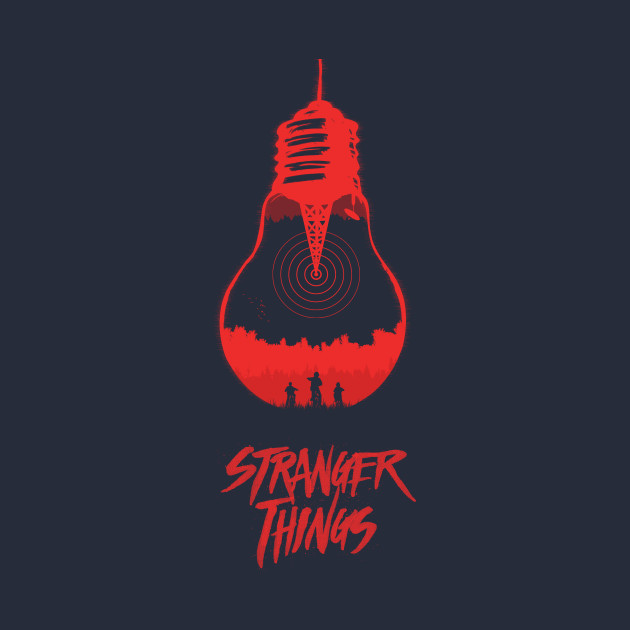 Stranger things light bulb illustration and logo variation