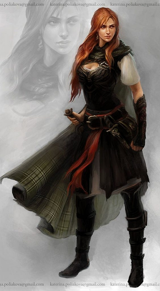 Fantasy character concept art katerina