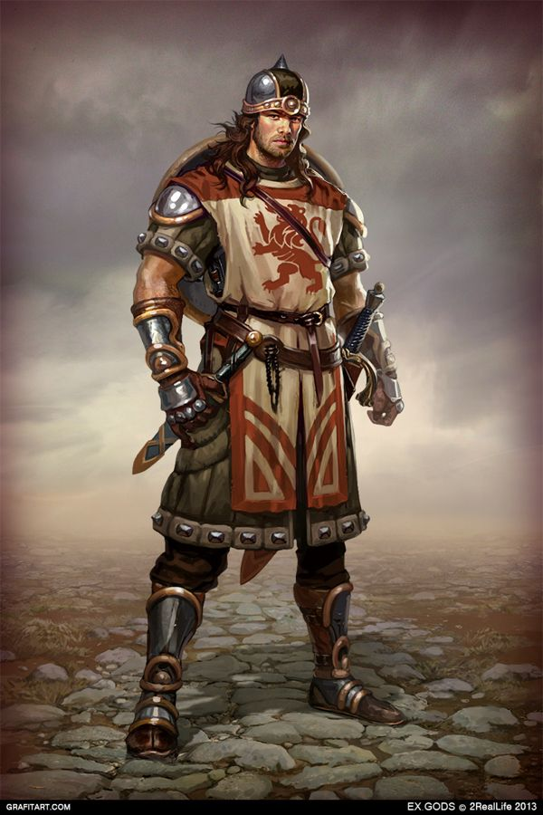 Fantasy character concept art soldier