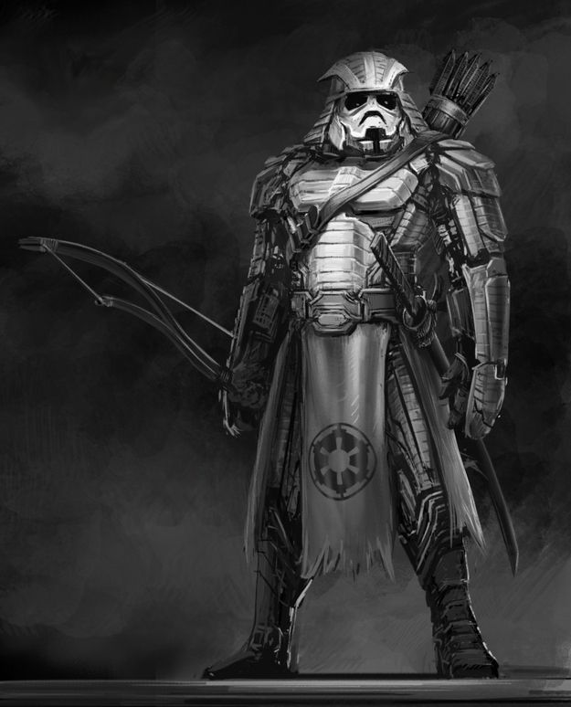 fantasy concept art feudal japanese star wars fan art