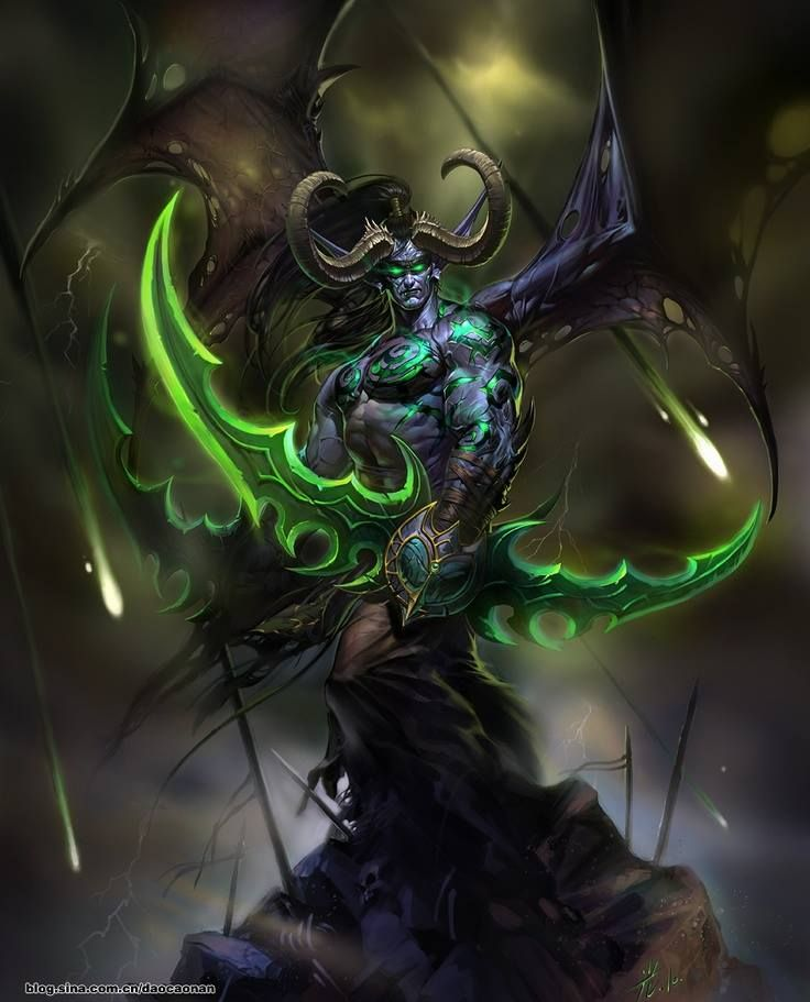wow concept art illidan stormrage
