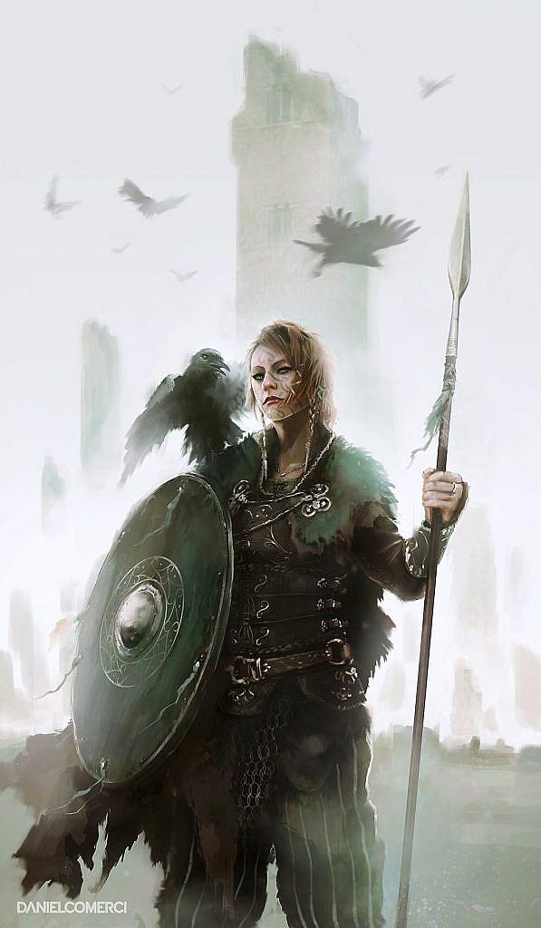 fantasy concept art valkyrie