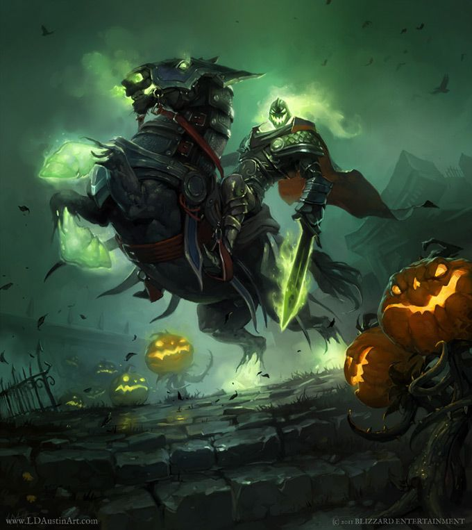 wow concept art the headless horseman