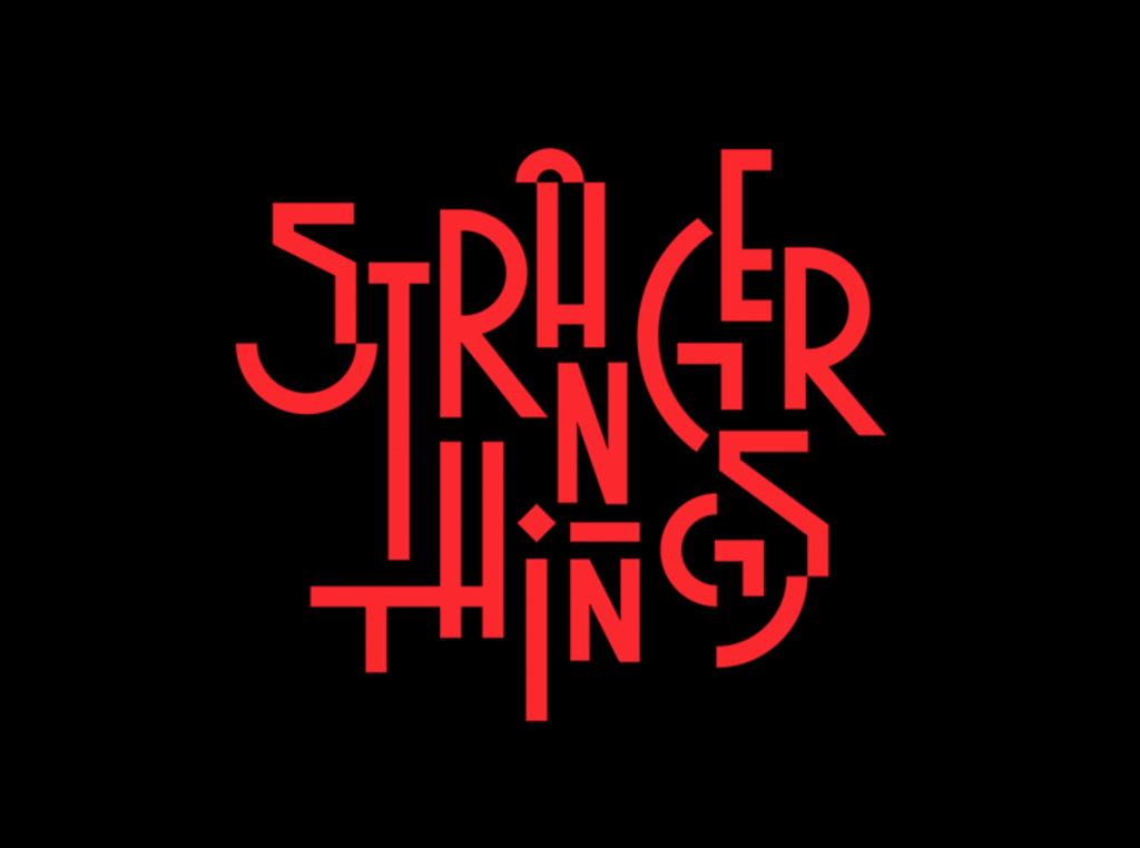 Stranger things logo variation