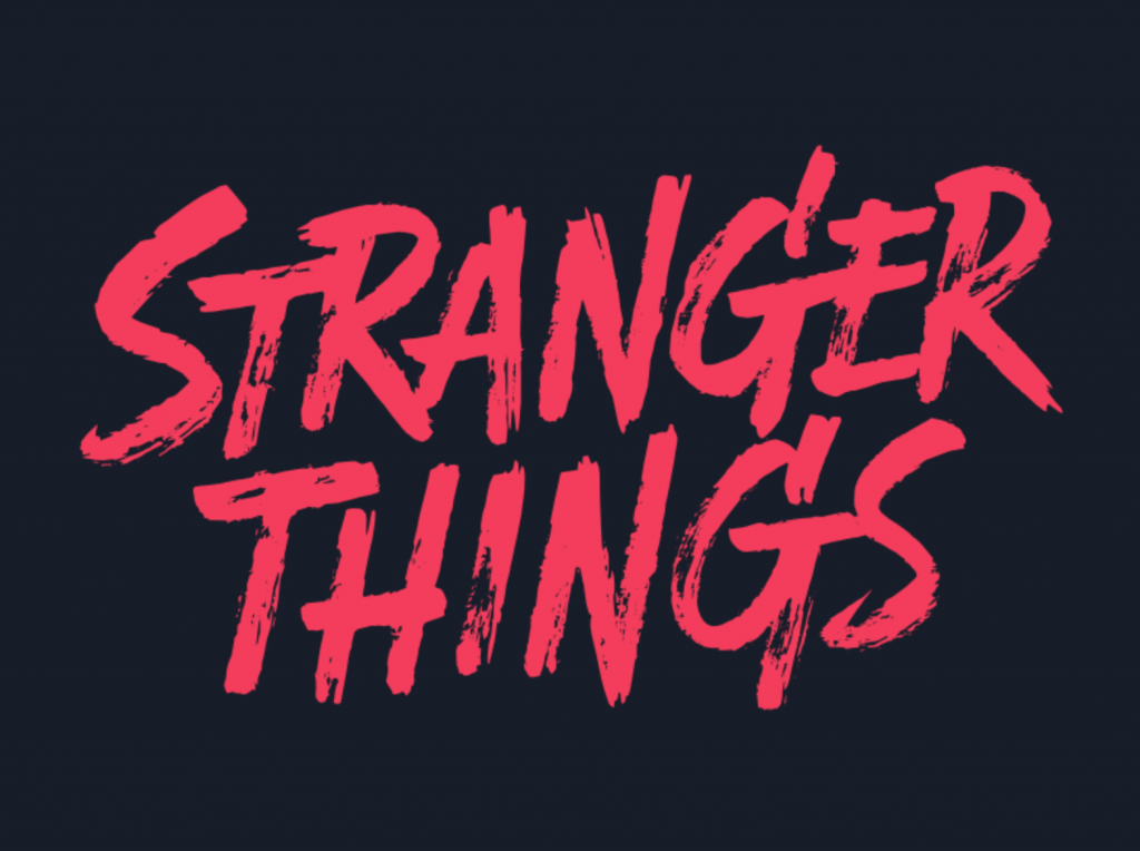 Stranger things logo variation 2