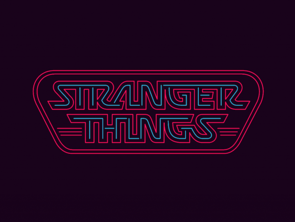 Stranger things neon logo