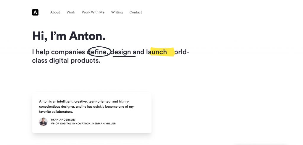 Anton Sten UX Designer Portfolio
