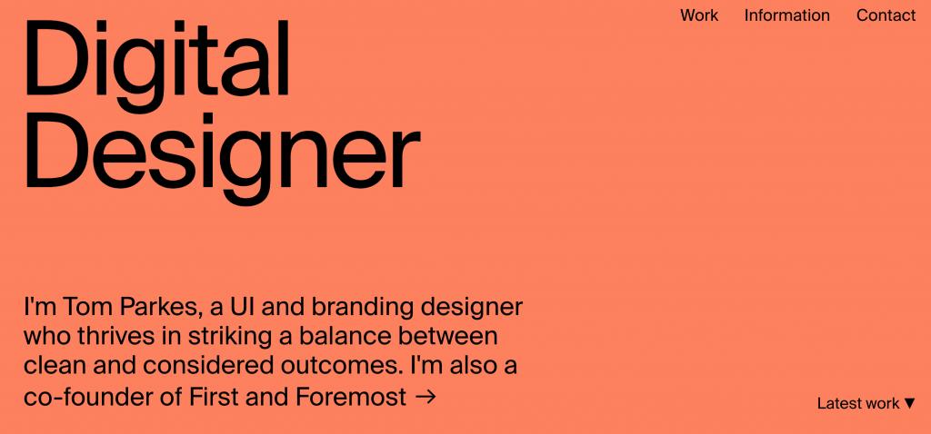 Tom Parkes UX Designer Portfolio