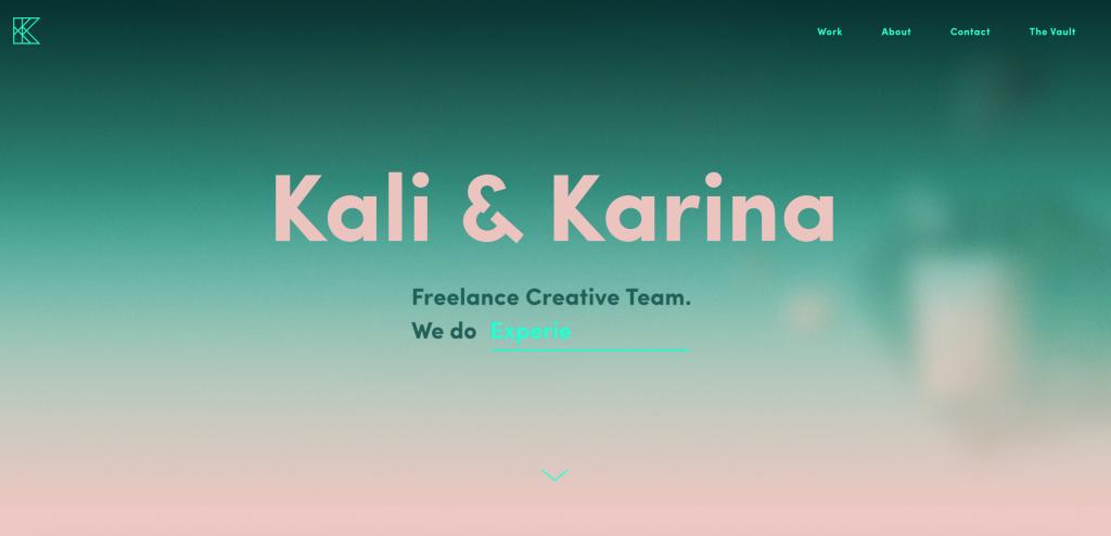 Kali & Karina UX Designer Portfolio