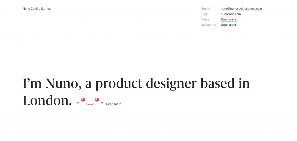 Nuno Coelho Santos UX Designer Portfolio