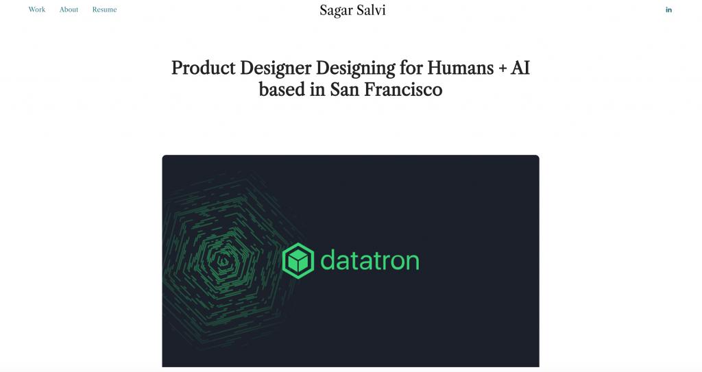 Sagar Salvi UX Designer Portfolio