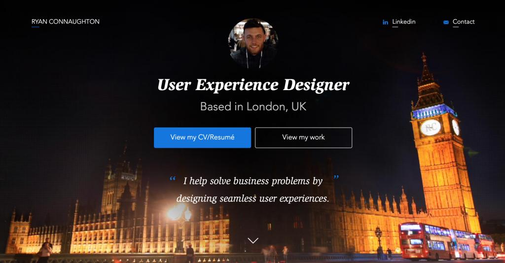 Ryan Connaughton UX Designer Portfolio
