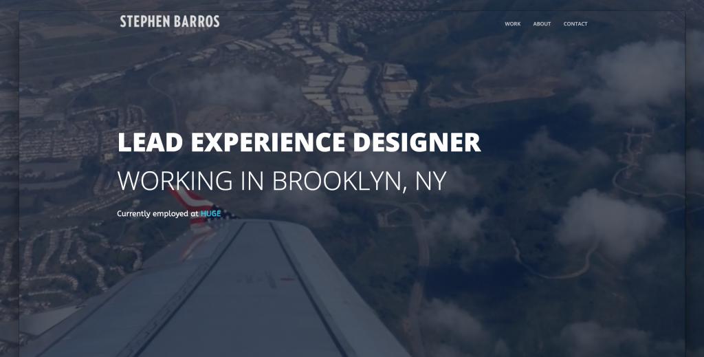 Stephen Barros UX Designer Portfolio