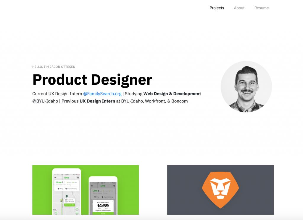 Jacob Ottesen UX Designer Portfolio