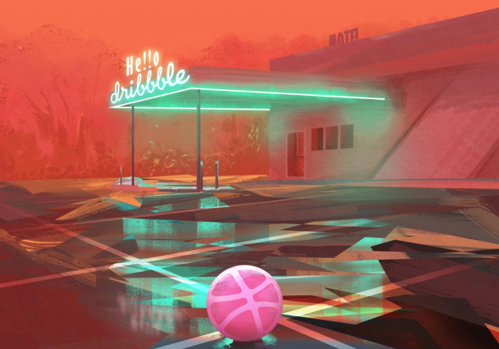 neon effect motel