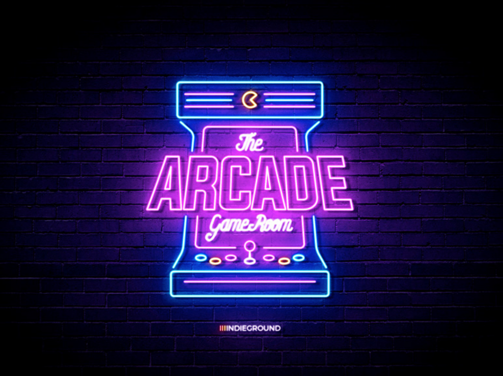 arcade neon effect sign