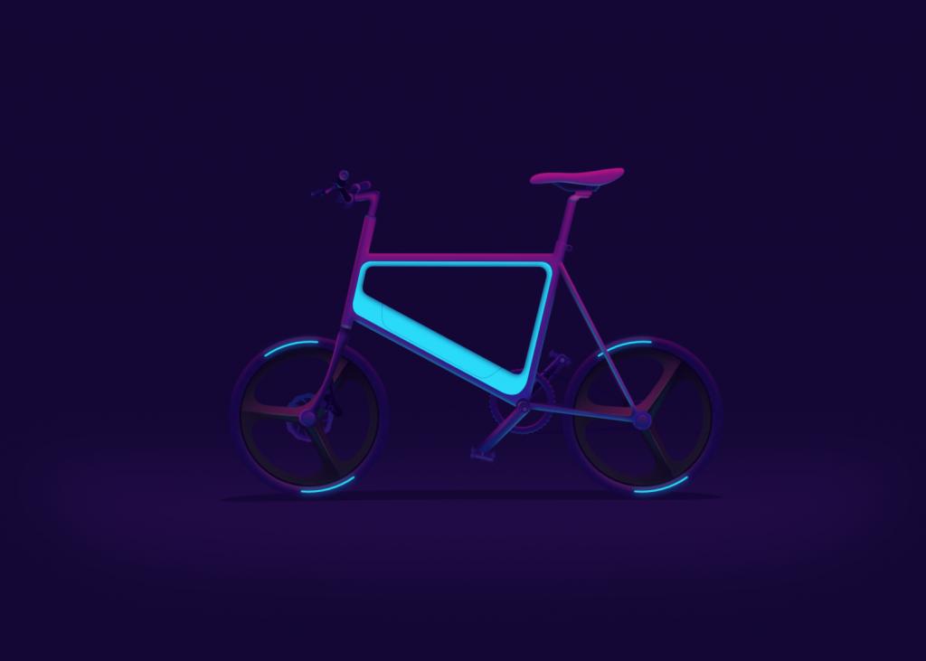 bike in neon effect