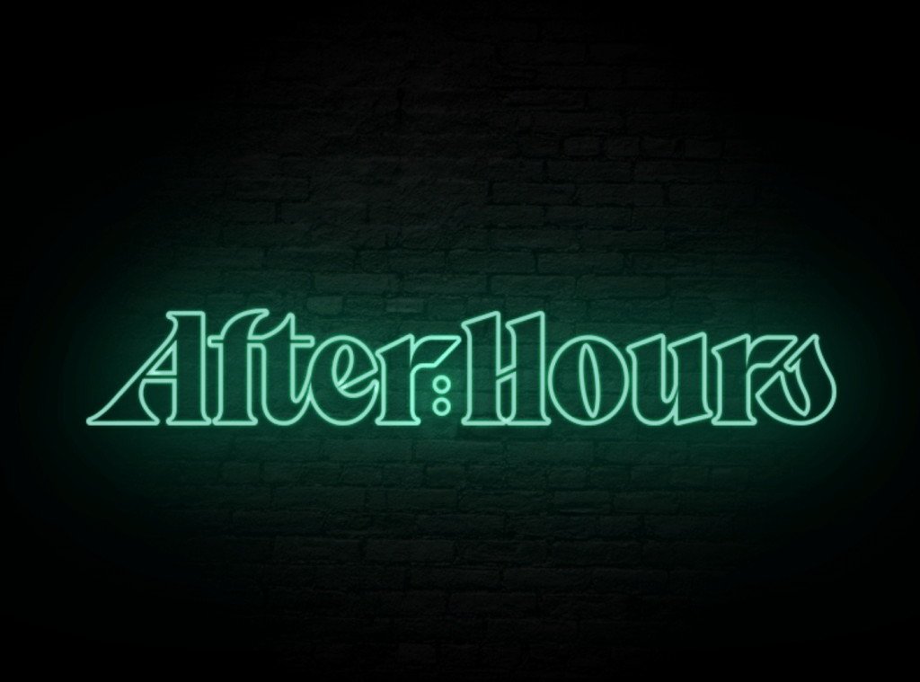 neon effect font
