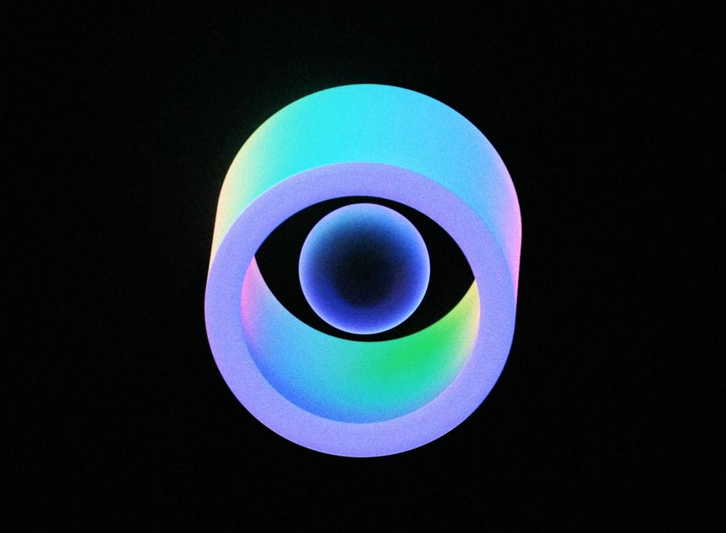 eye in neon effect