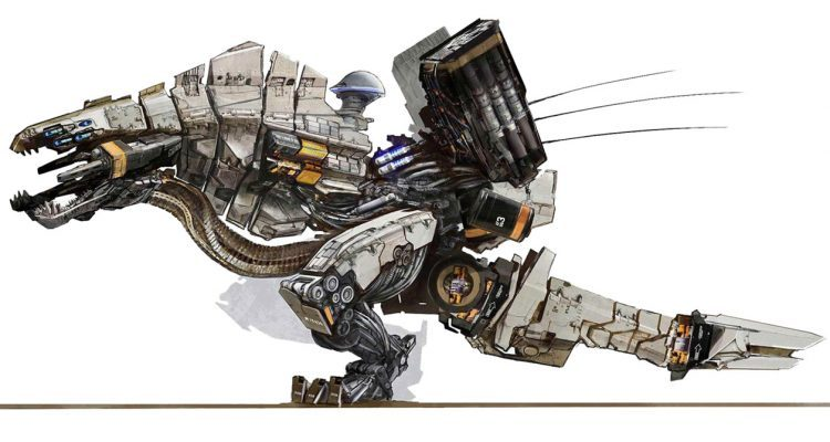 horizon zero dawn concept art demolisher
