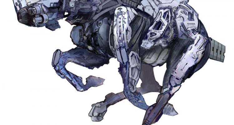 horizon zero dawn concept art mount robot
