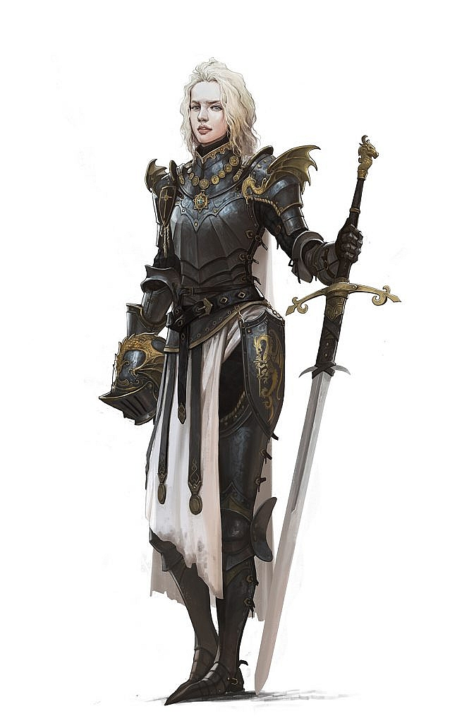 fantasy concept art female knight