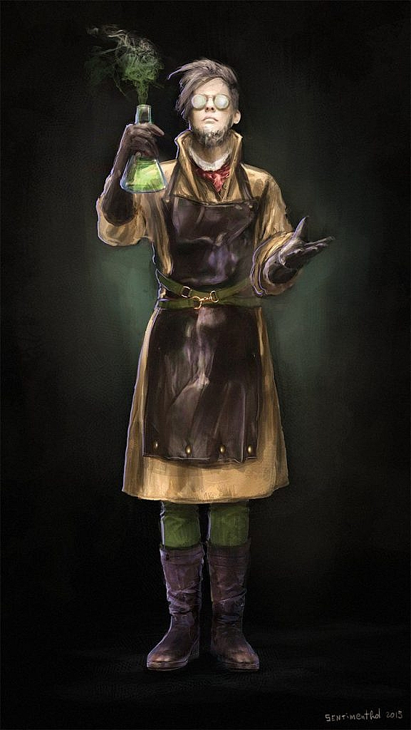 fantasy concept art mad scientist