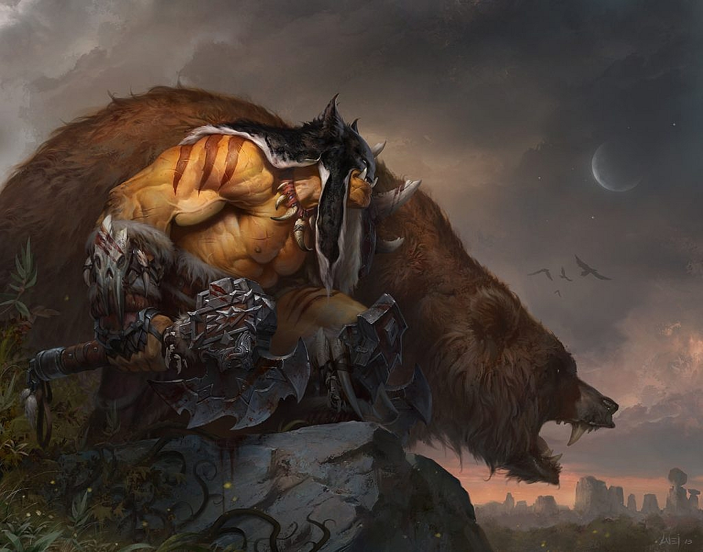 wow concept art rexxar