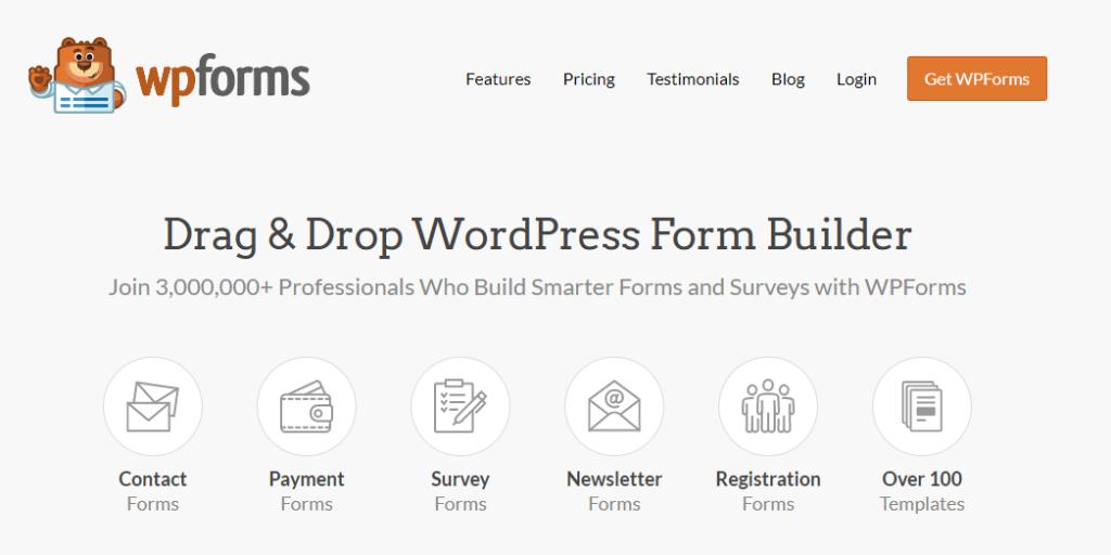 WPForm home page