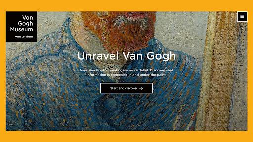 Unravel Van Gogh Amsterdam Art gallery websites