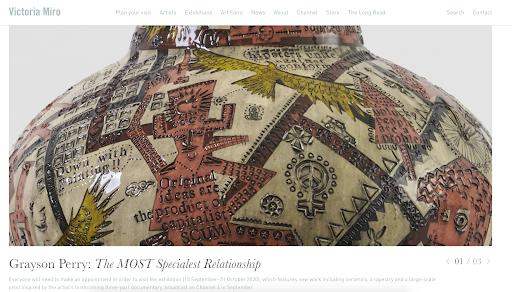 Victoria Miro Art gallery websites