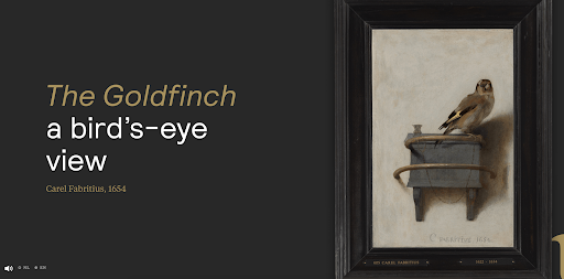 The Goldfinch Art gallery website