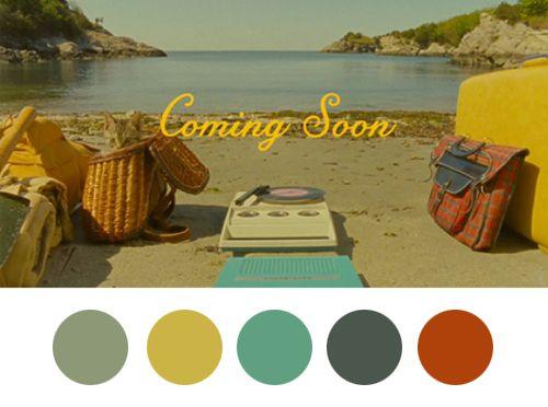 vintage color palette beach colors