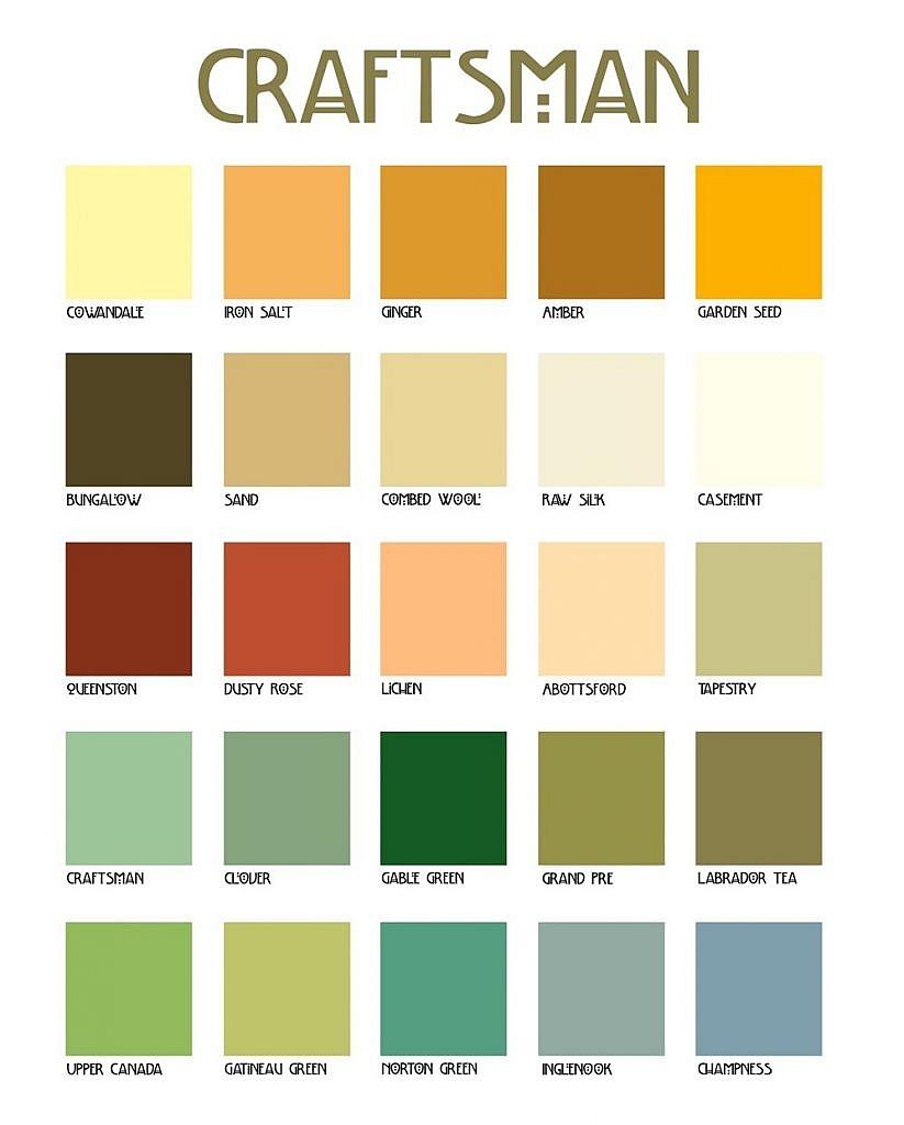 vintage color palette craftsman palette