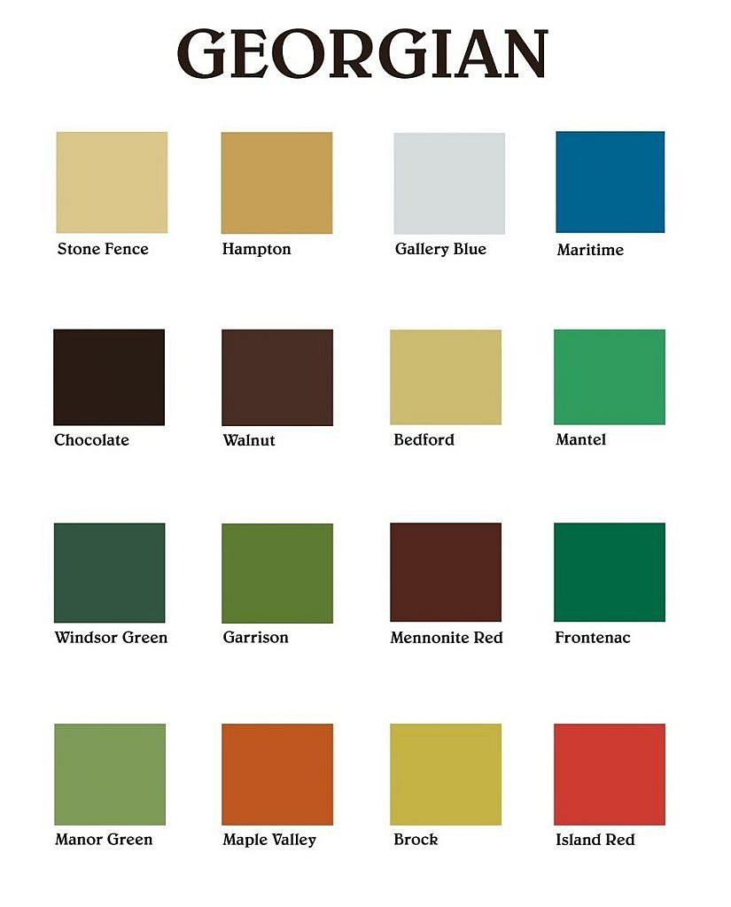 vintage color palette georgian color palette