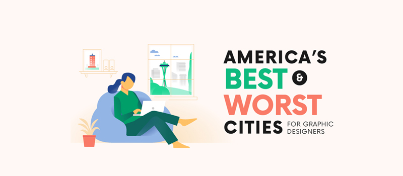 Americas Best (and Worst) Cities for Graphic Designers – [Infographic]