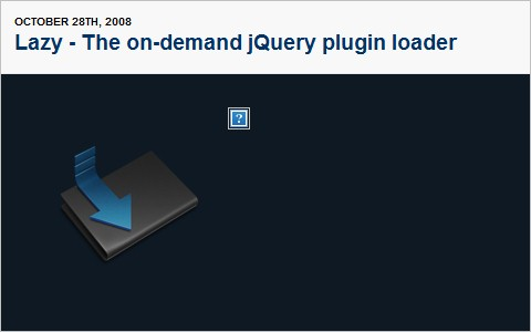 Lazy - The on-demand jQuery plugin loader