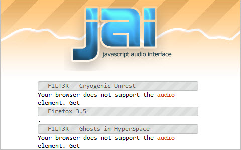 jai - javascript audio interface