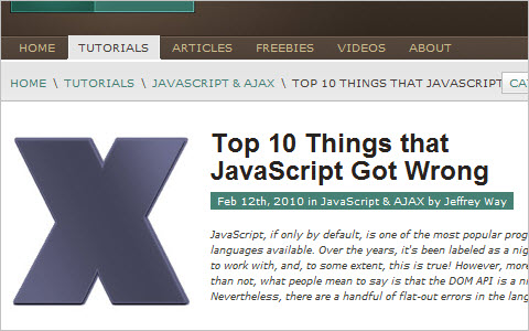 Top 10 Things that JavaScript Got Wrong