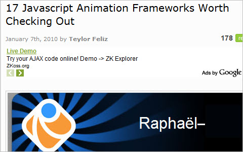 17 Javascript Animation Frameworks Worth Checking Out
