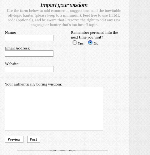 Comment Form Styling: Examples and Best Practices - noupe