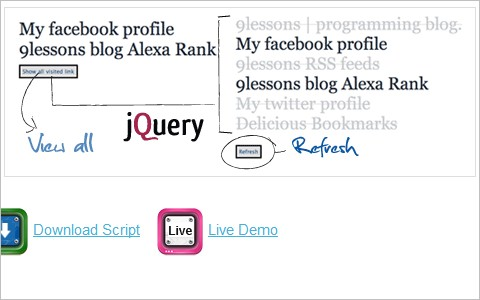 Using jQuery Visited Plug-In.