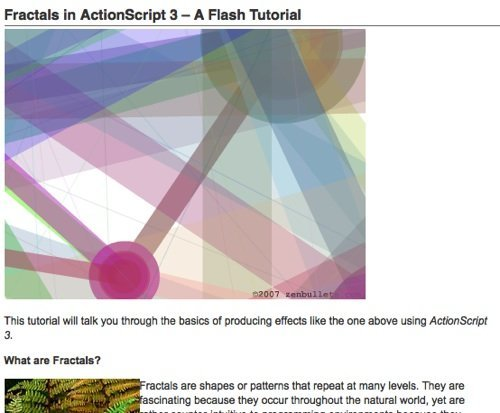 Fractals in Actionscript 3