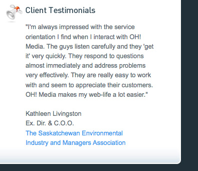 Web design trends testimonials design noupe for Business testimonial template